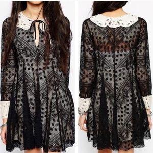 Talk that talk collared lace dress